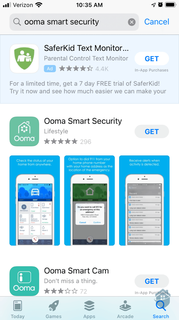Downloading Ooma App