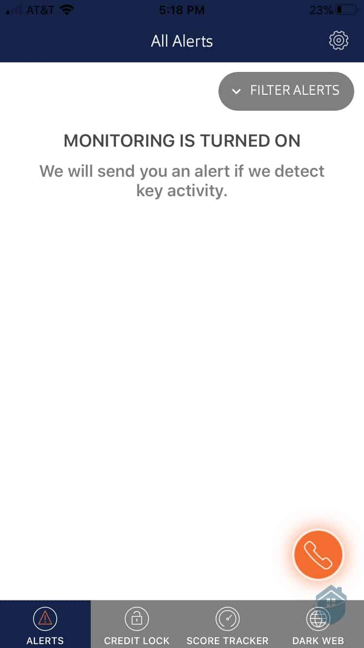 ID Watchdog App - Monitoring turned On