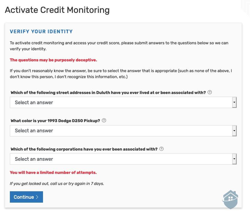 IDShield Credit Monitoring