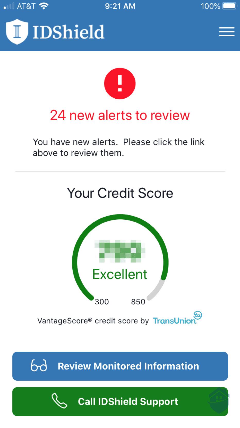 IDShield Credit Score