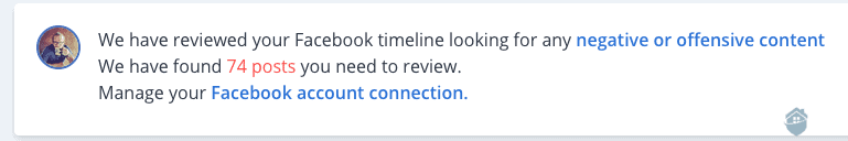 IDShield Facebook account Connection