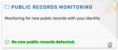 IDShield Public Records Monitoring