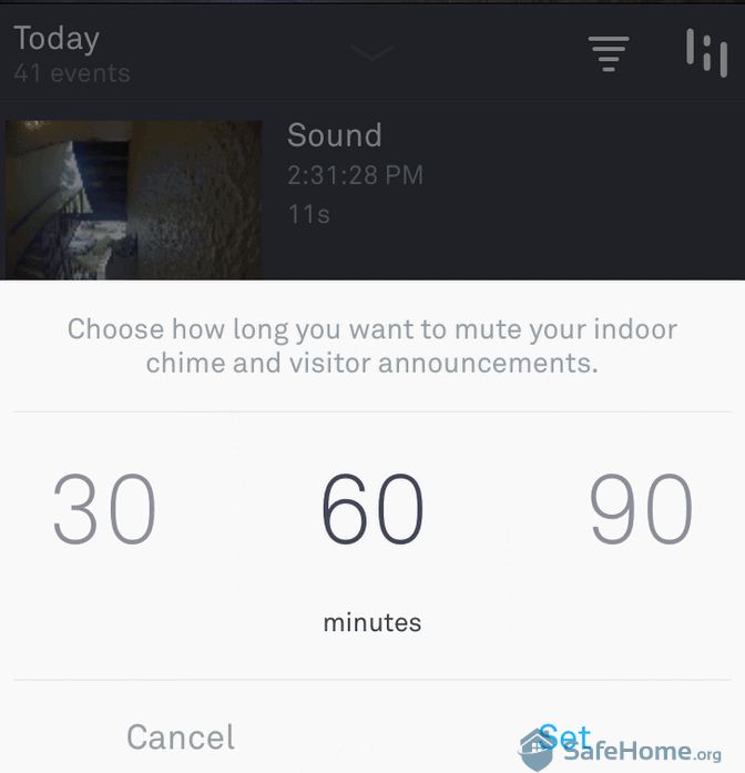 Nest App - Muting the Chime