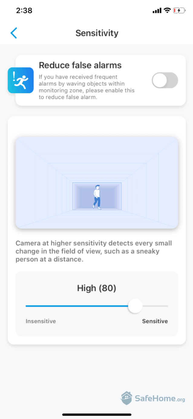Reolink Camera Sensitivity Options