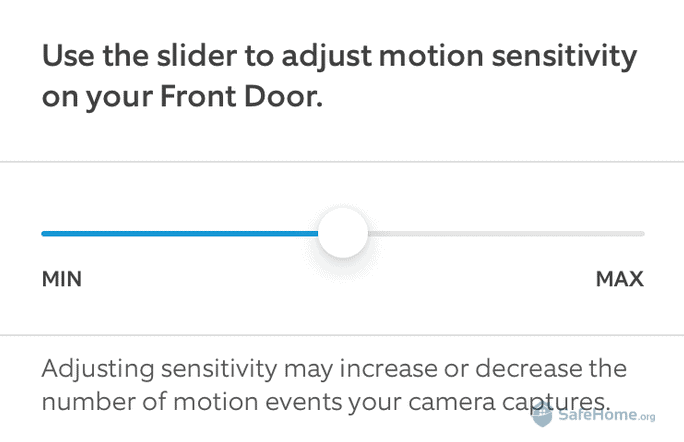 Ring App Motion Sensitivity