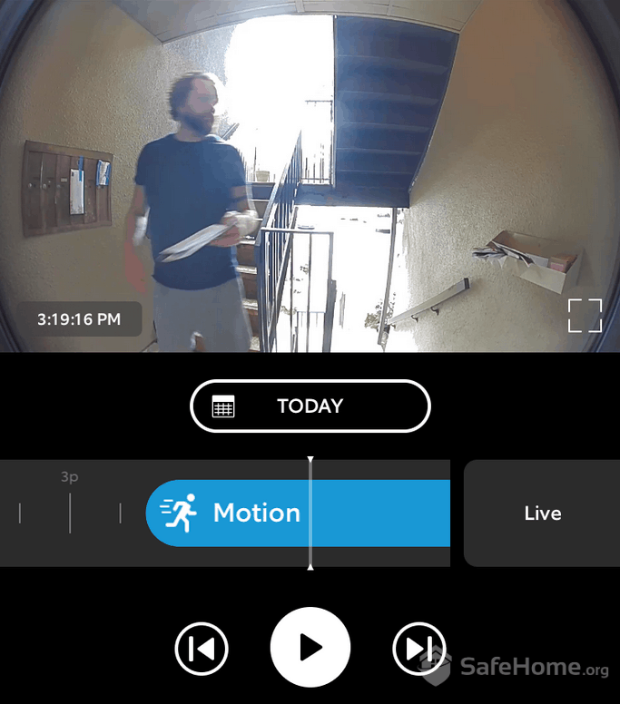 Ring Doorbell Motion Detection