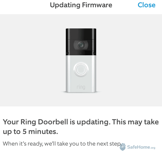 Ring Doorbell - Updating Firmware