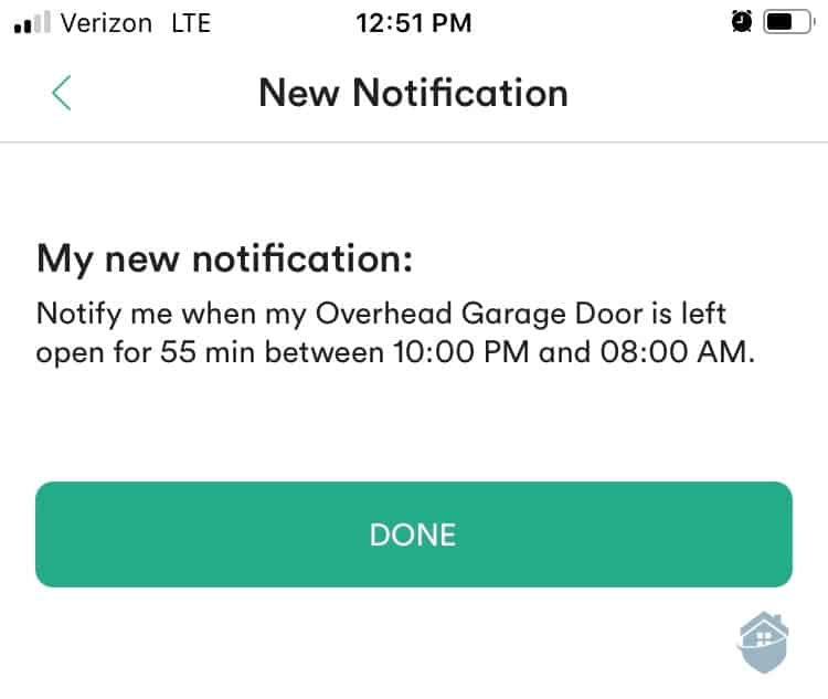 Vivint App - New Notification
