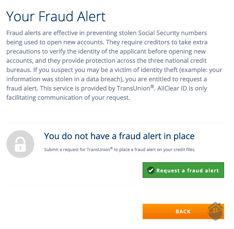 AllClear Fraud Alert