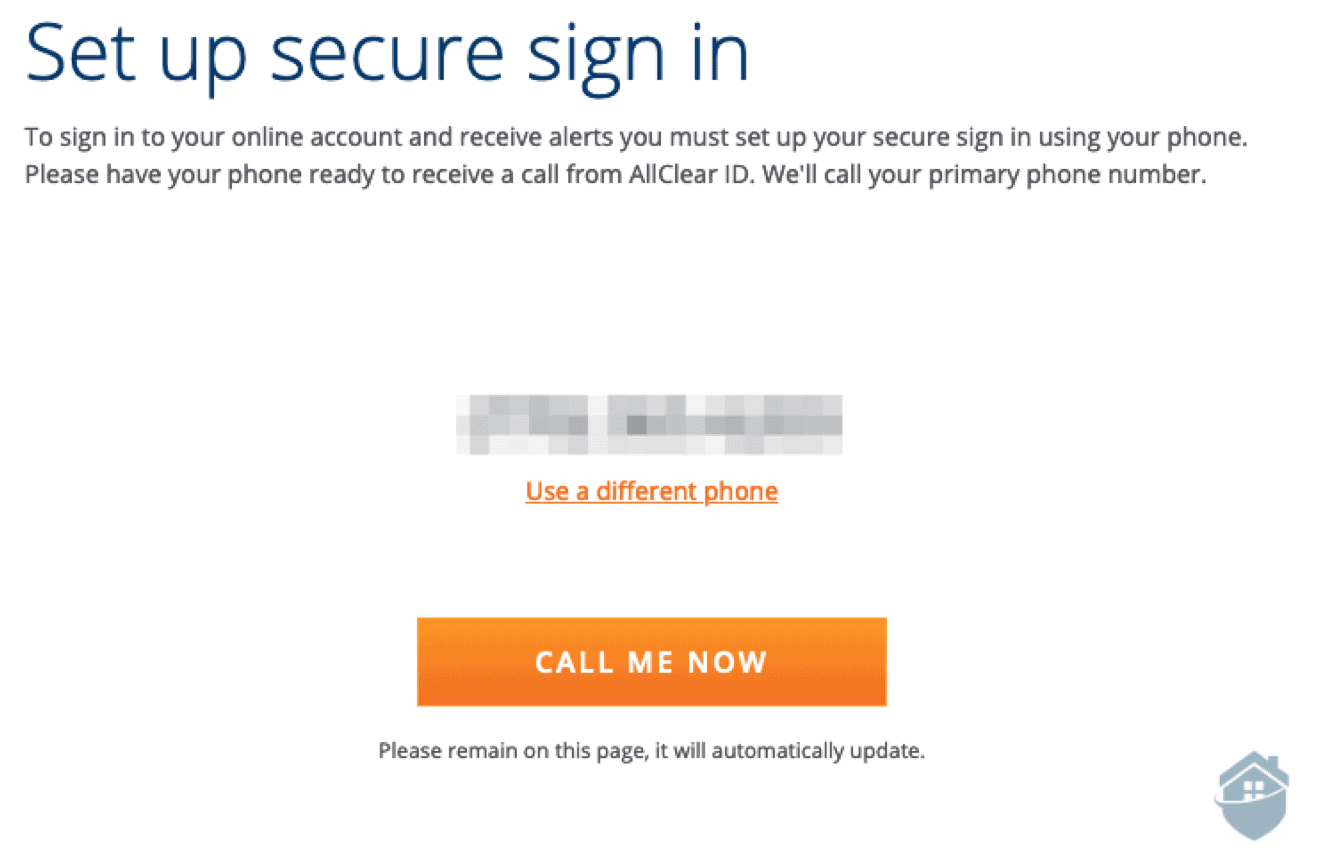 AllClear Secure Sign in