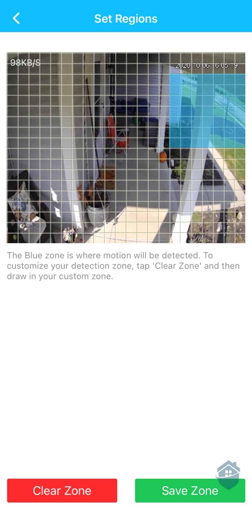 Amcrest Custom Detection Zones