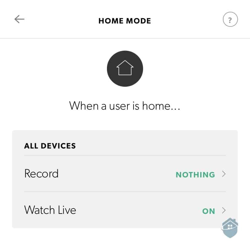 Canary Flex Home Mode