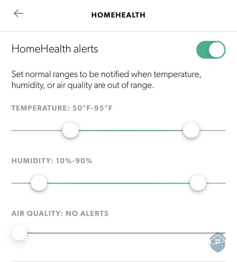Canary Pro Health Alerts