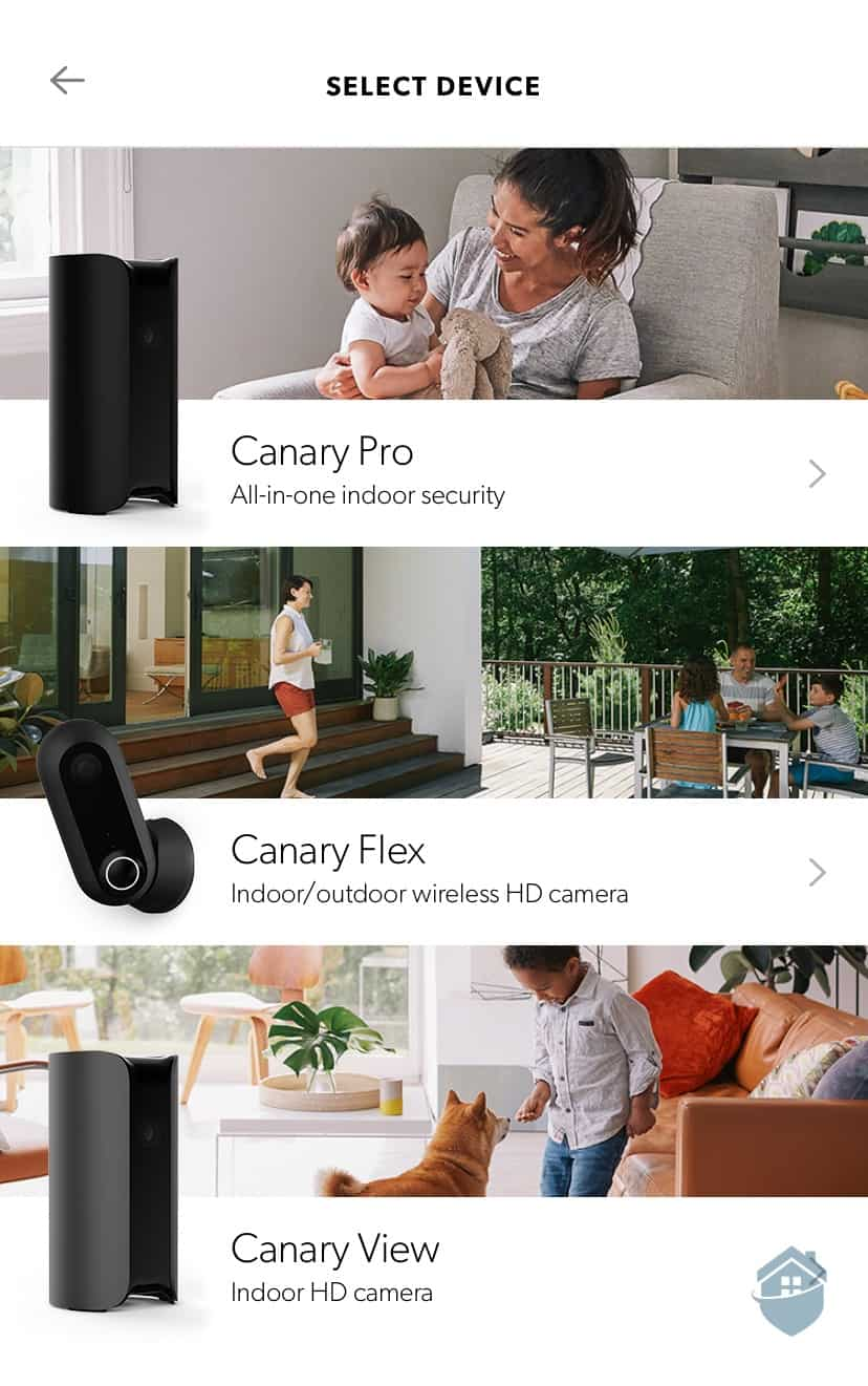 Canary - Select Device