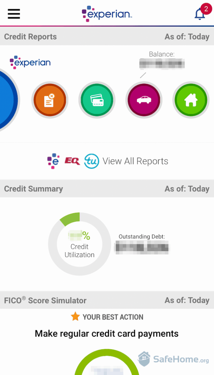 Experian App Screenshot