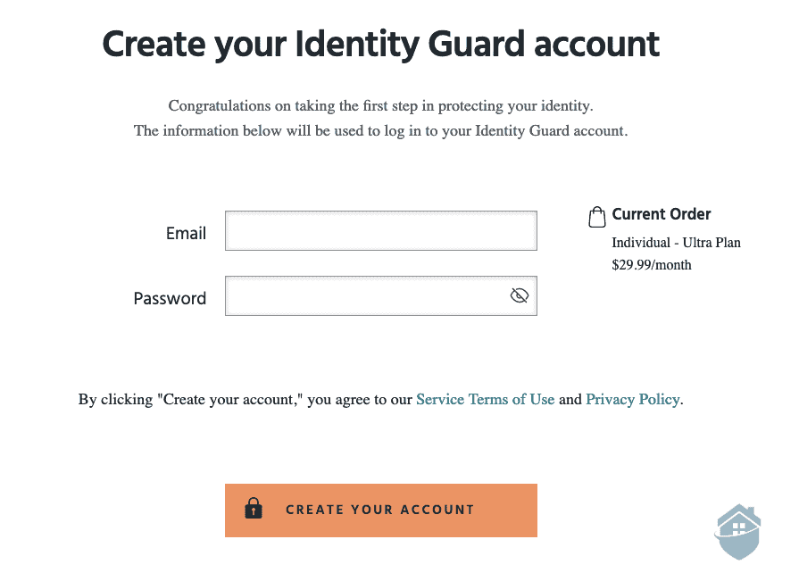 Identity Guard - Account Login