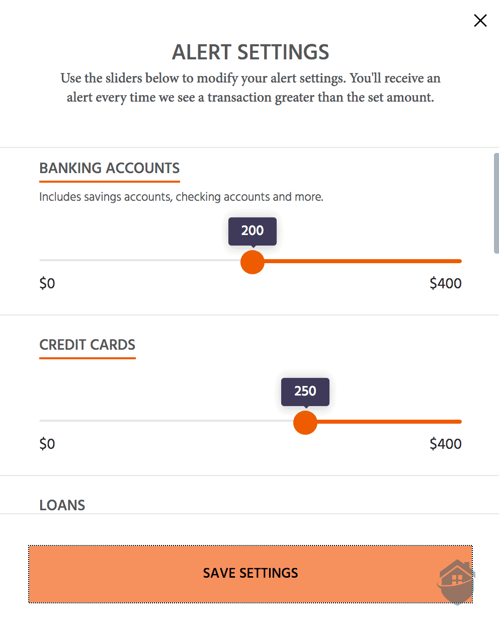 Identity Guard Banking Alerts