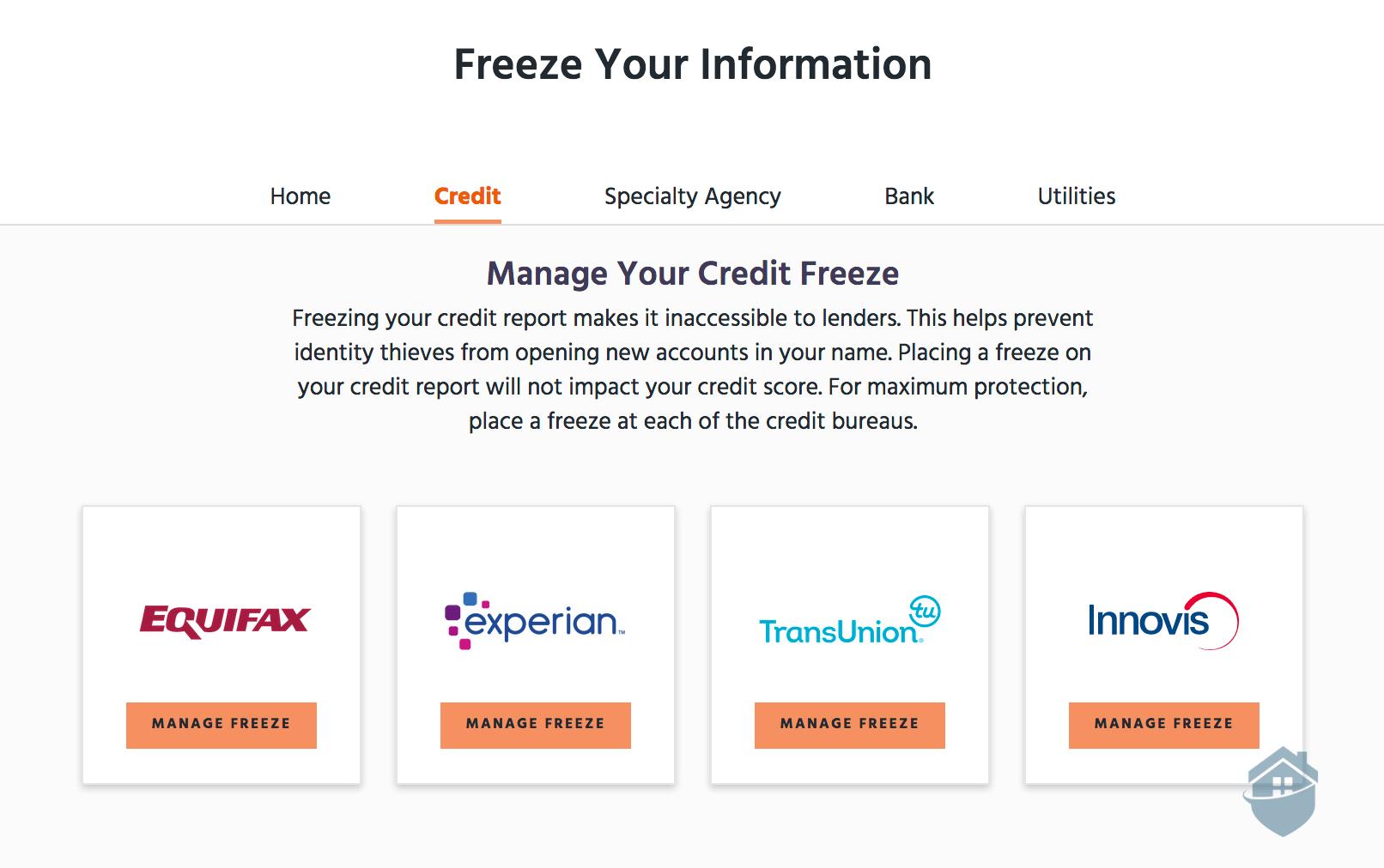 Identity Guard Credit Freeze