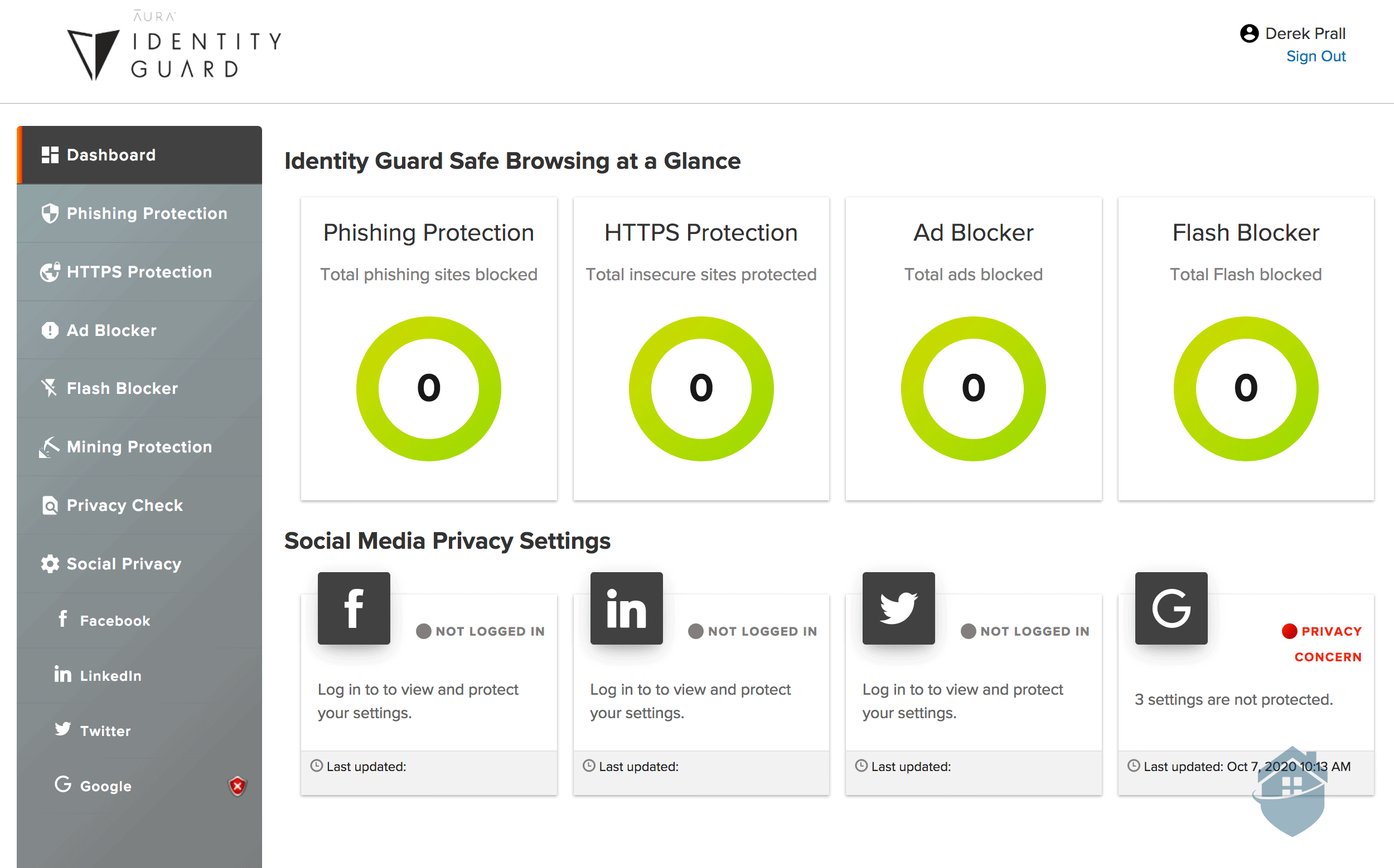 Identity Guard Safe Browsing Report