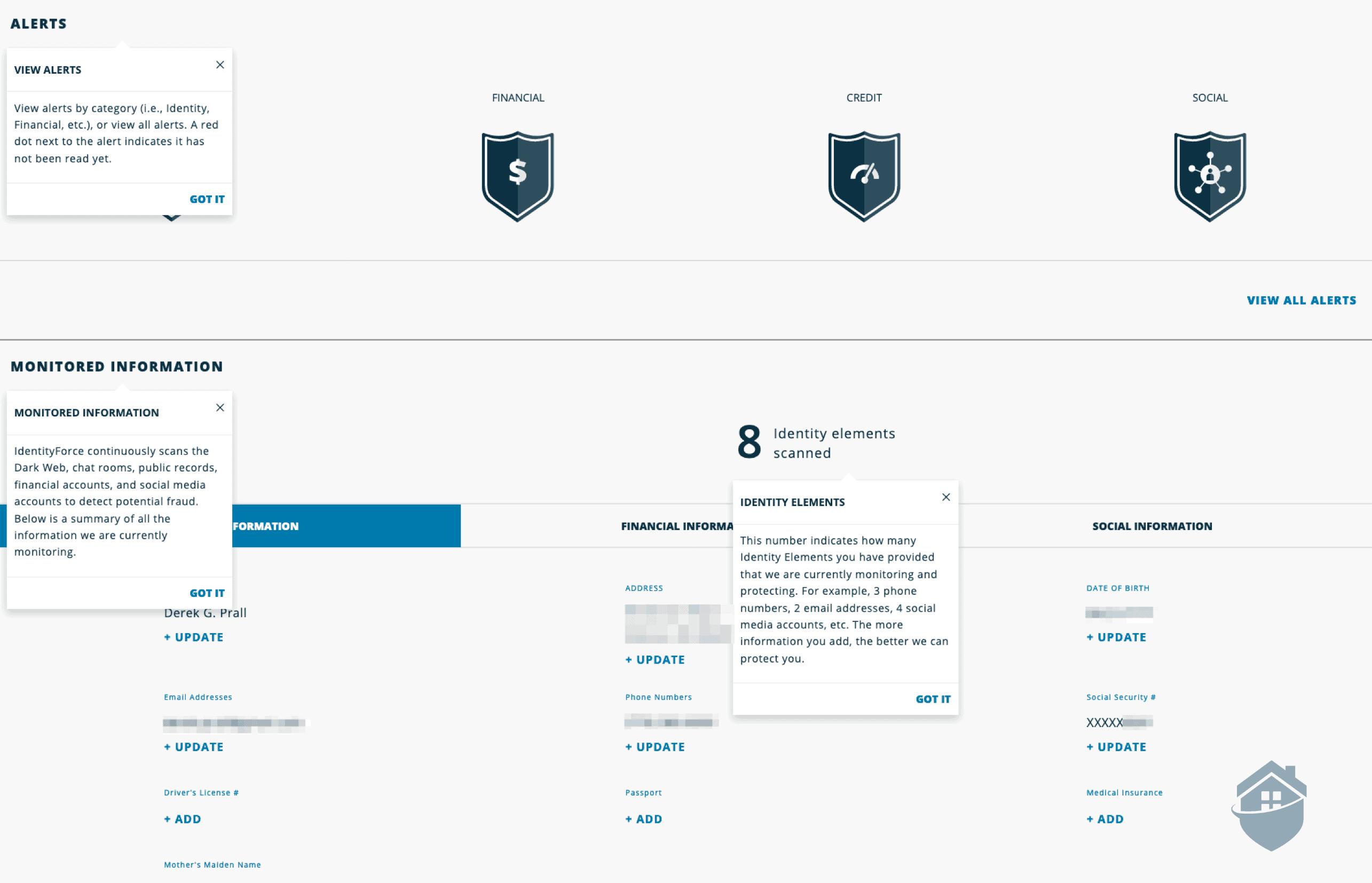IdentityForce Dashboard