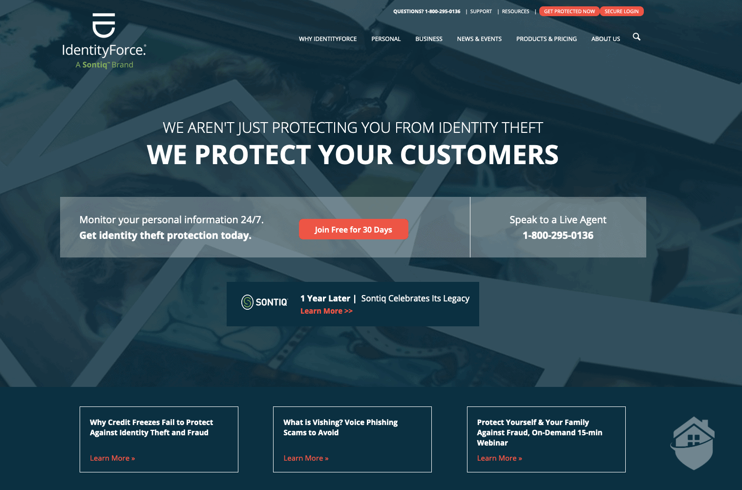 IdentityForce Home Page