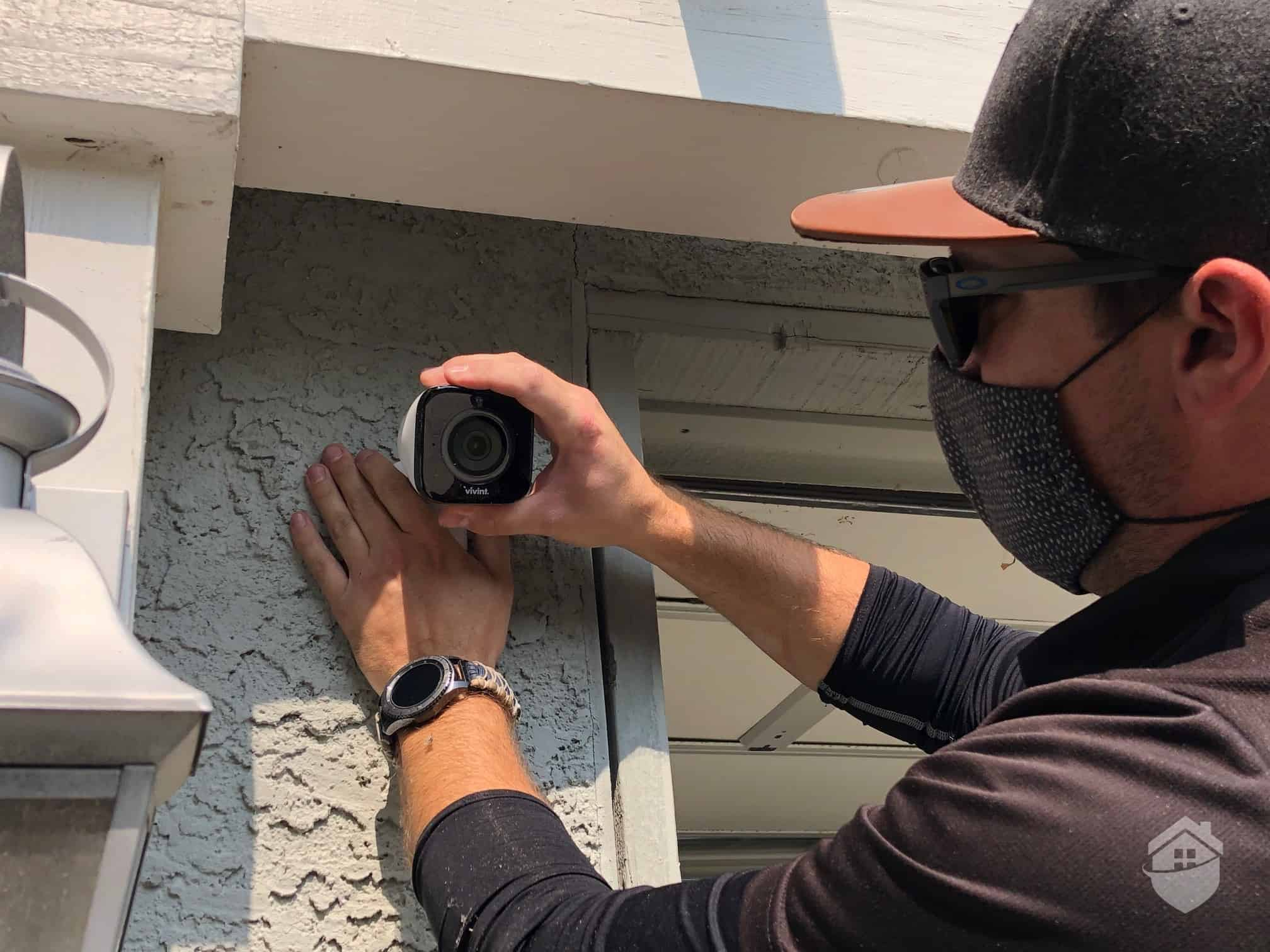 Installation Specialist, Don, Installing the Vivint Outdoor Camera