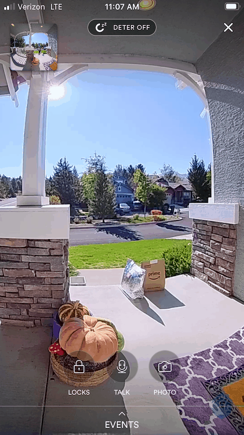 Live Video of the Vivint Doorbell
