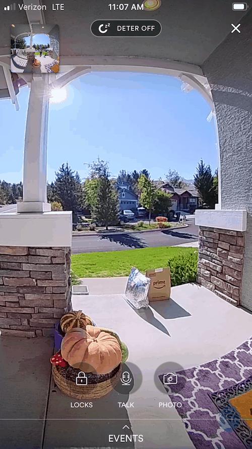 Live Video of the Vivint Doorbell