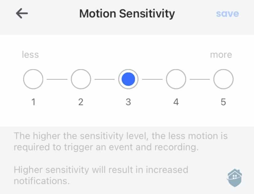 Lorex App Motion Sensitivity