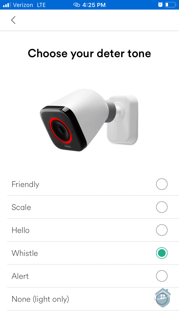 Vivint App - Deter Tone