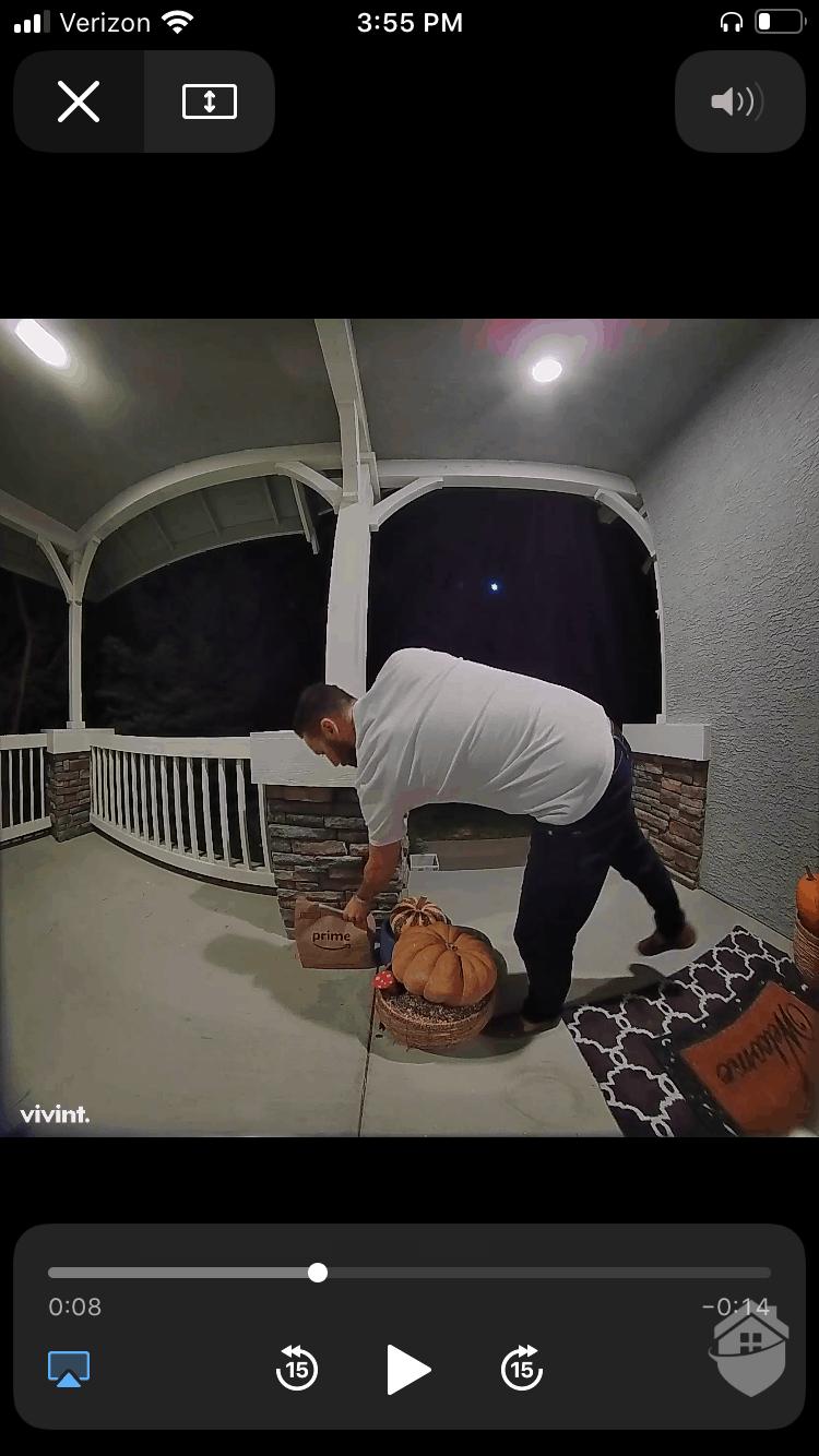 Vivint Motion Detection at Night