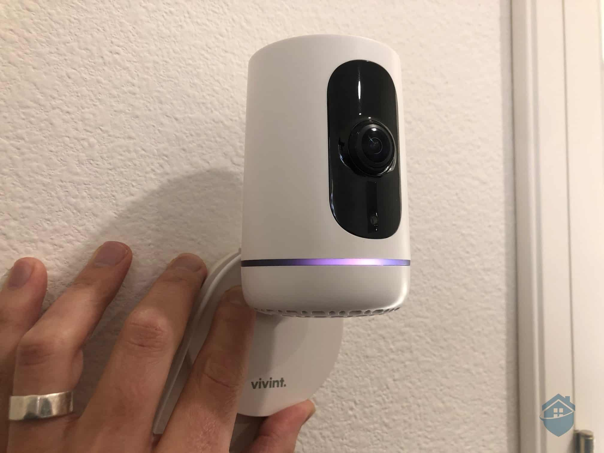 Vivint Ping Camera Mounted on the wall
