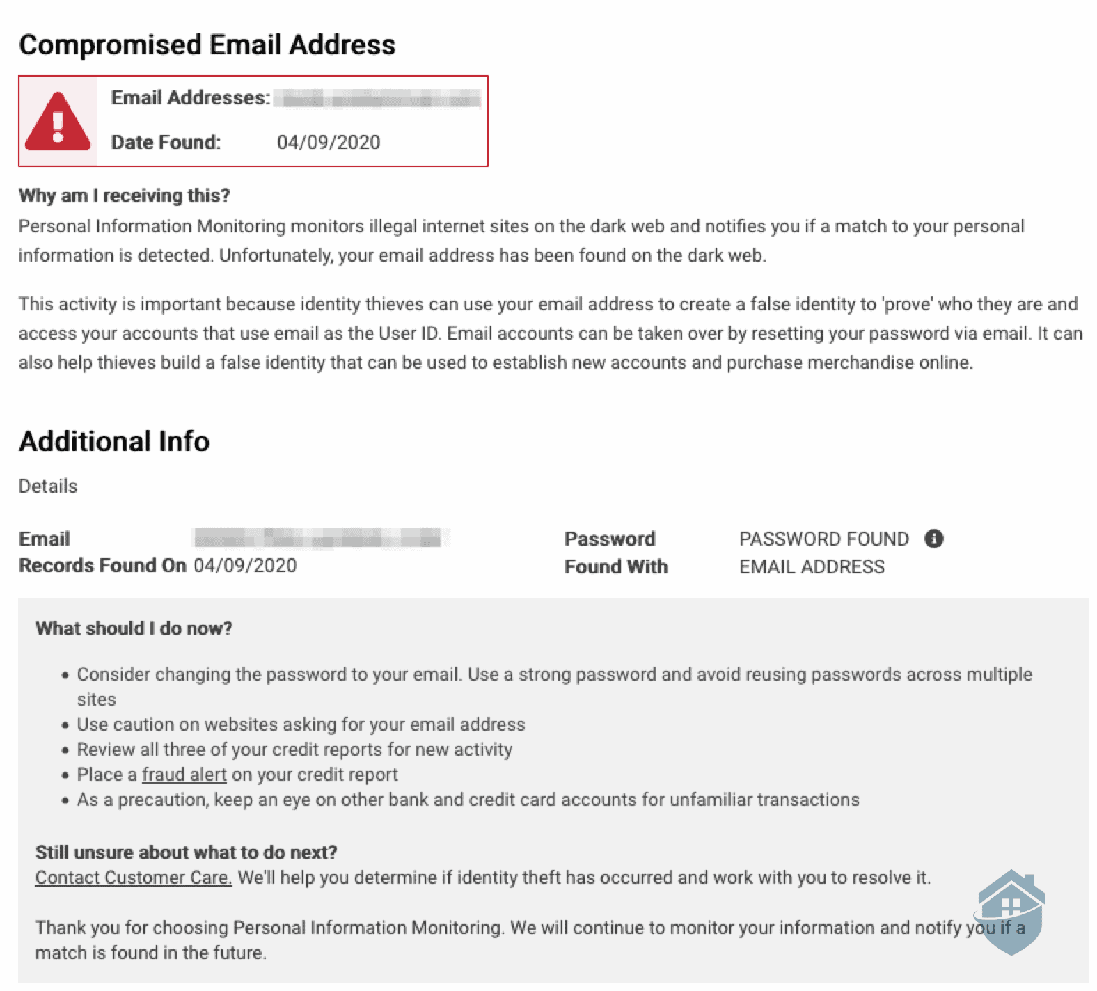 Zander Insurance - Compromised Email Alert