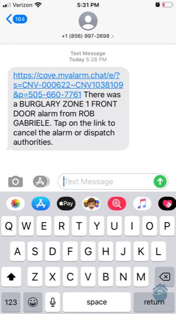 Cove Text Alerts