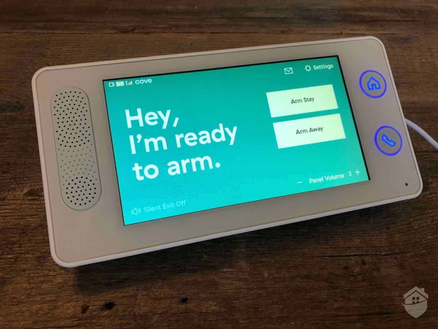 Cove Touchscreen - Ready to Arm Screen