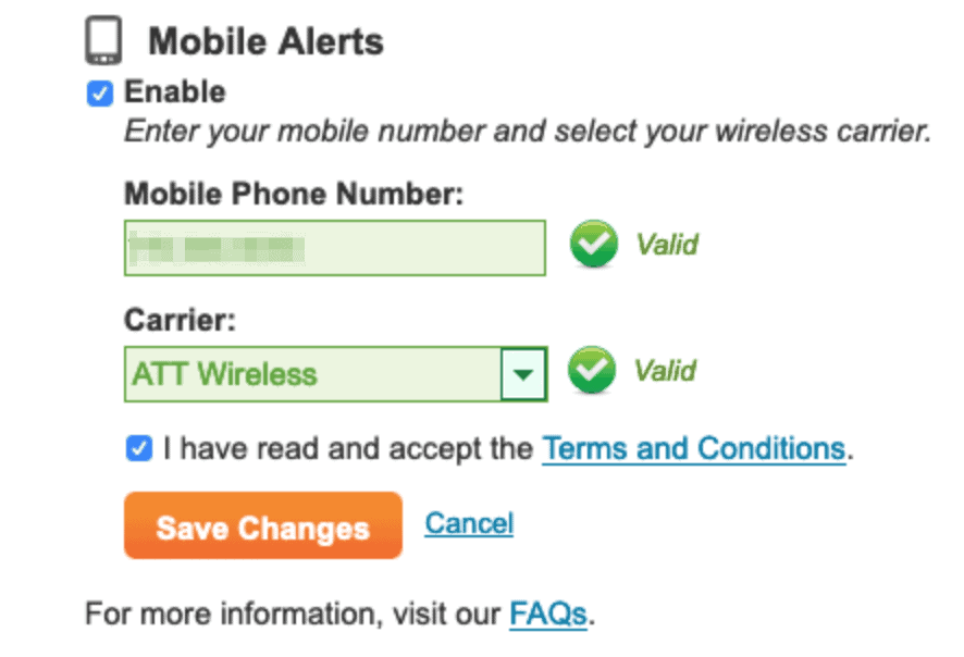 Equifax Mobile Alerts