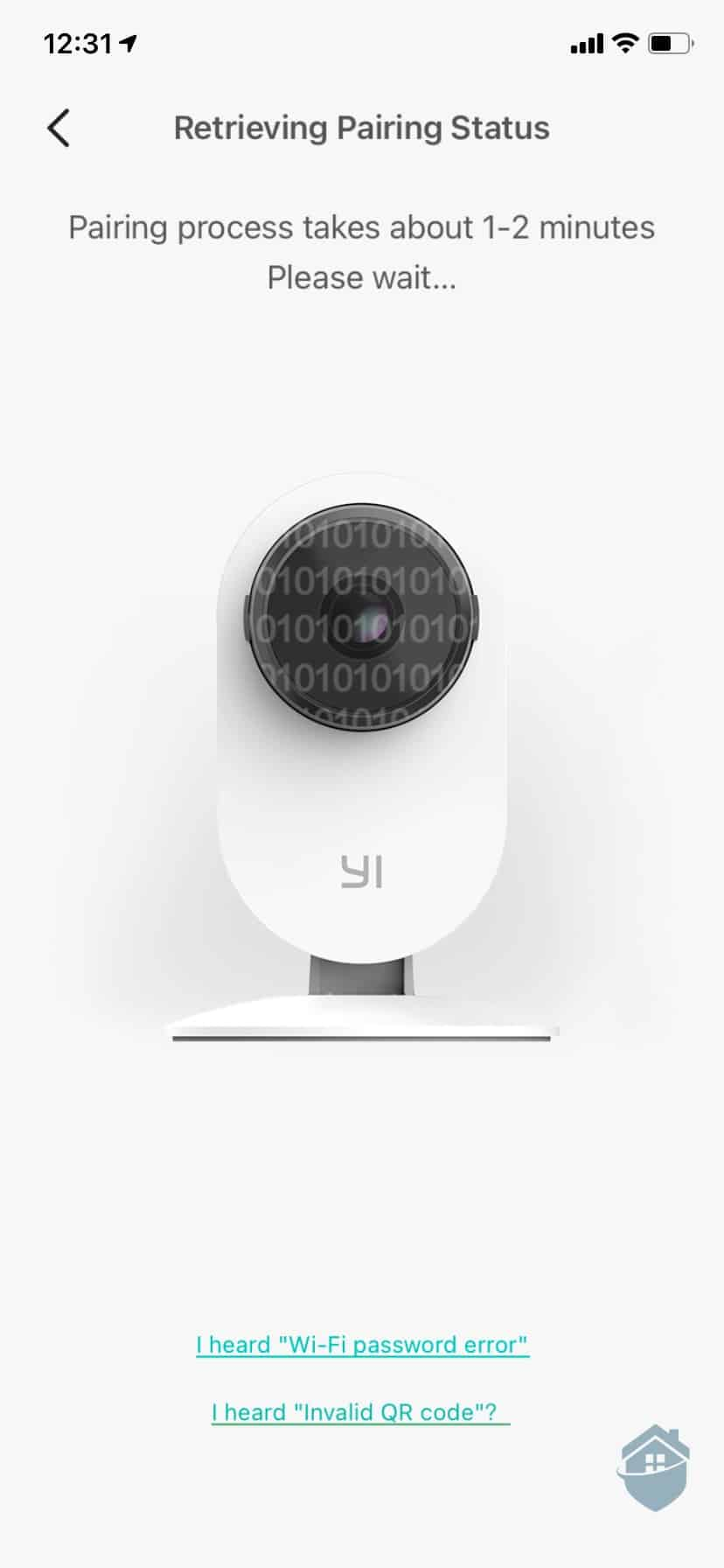 Pairing the YI Camera