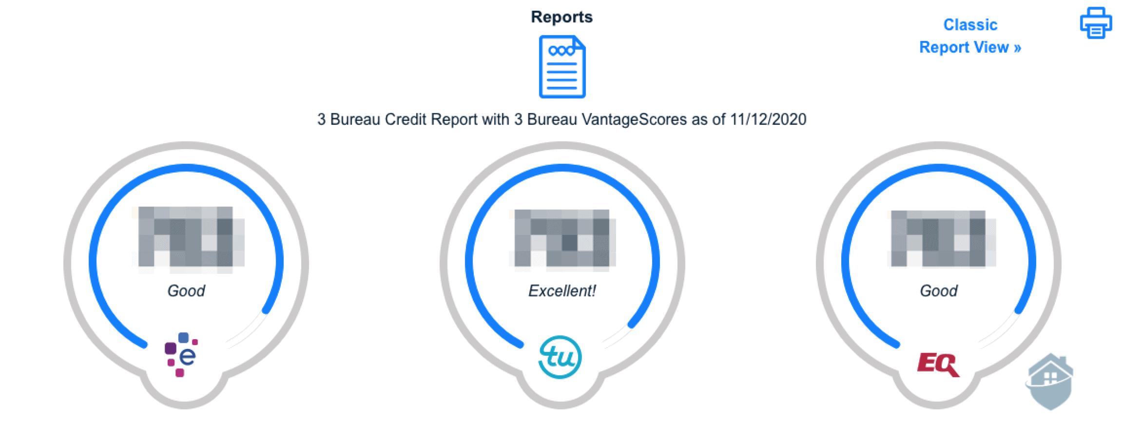 PrivacyGuard Credit Summary