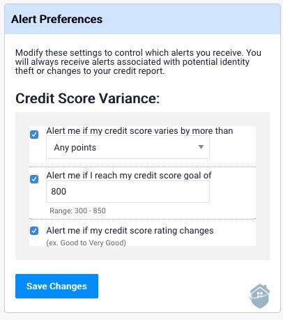 ProtectMyID Alert Preferences
