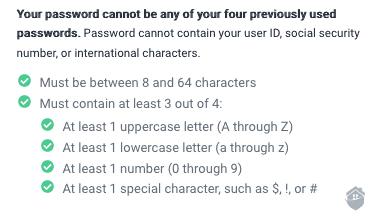 ProtectMyID Password Standards
