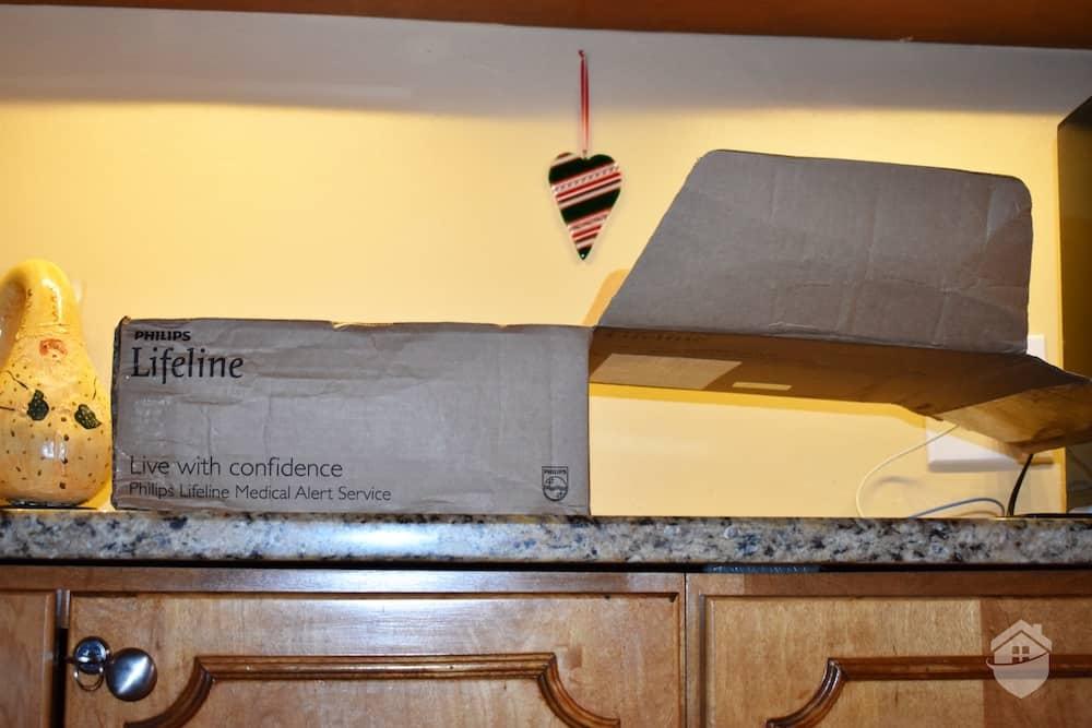 Box Lifeline was shipped in