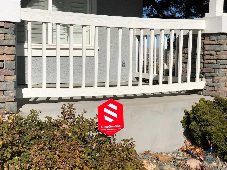 Deep Sentinel Yard Sign in our yard