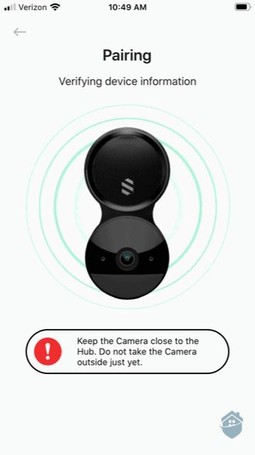 Pairing the Deep Sentinel Camera