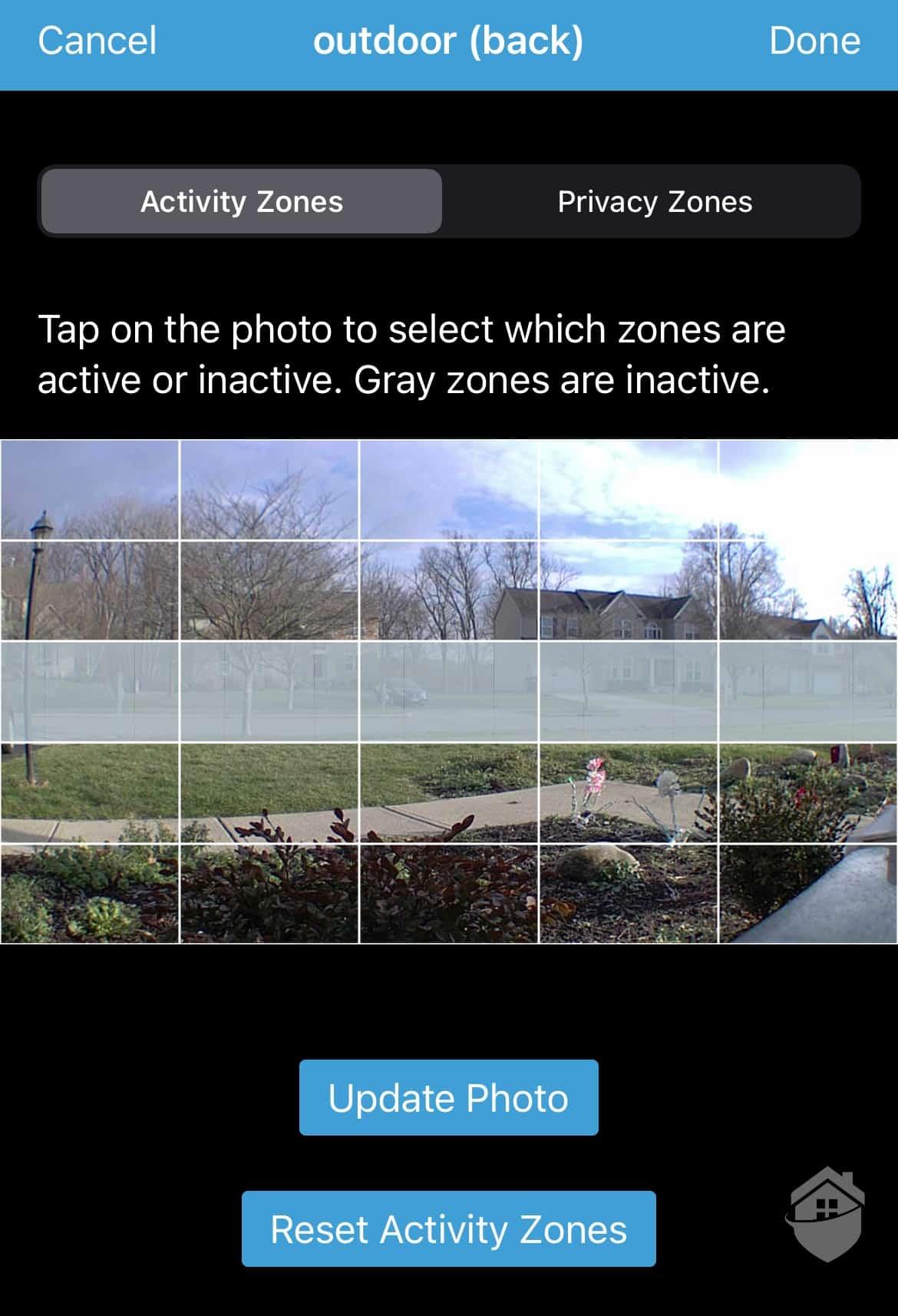 Blink App - Activity Zones