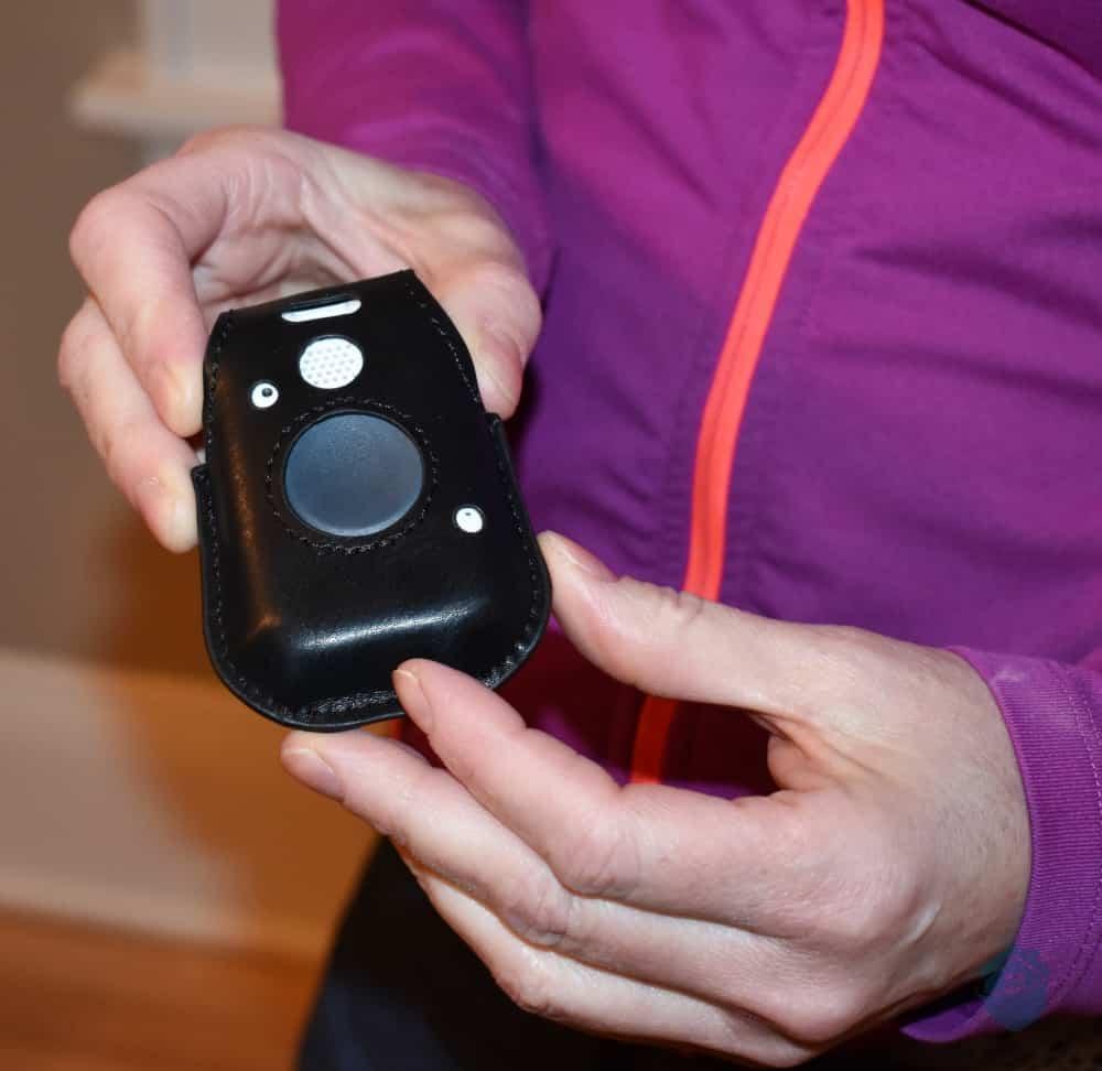 Closeup of the Medical Alert Belt Clip