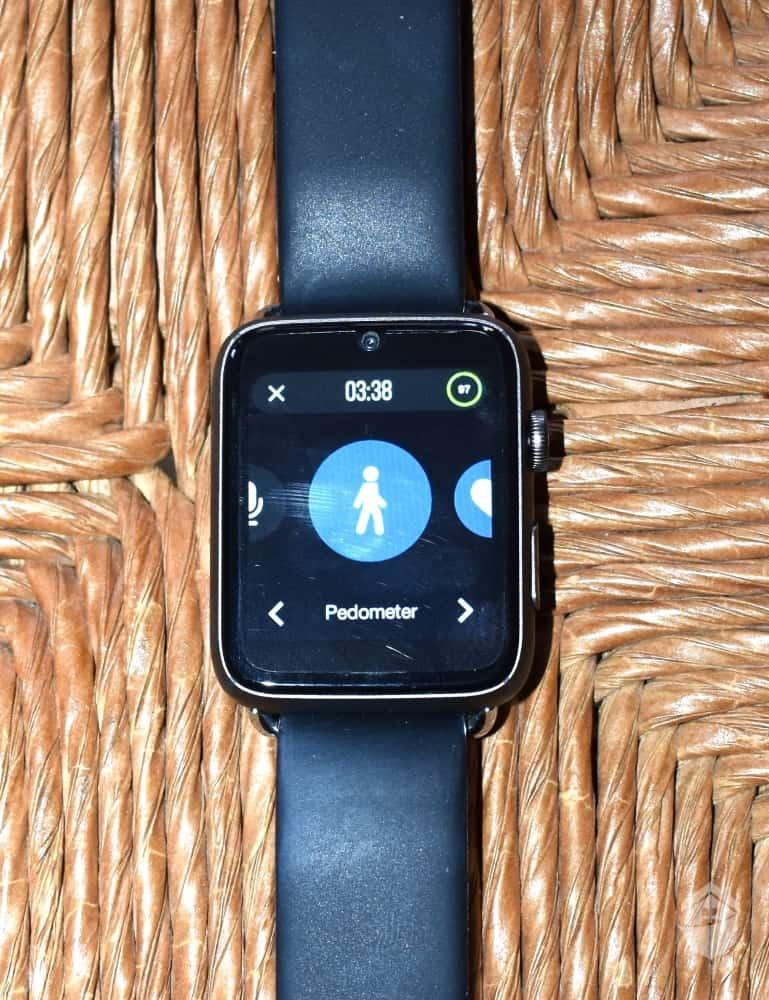 Pedometer on the HandsFree Health Watch