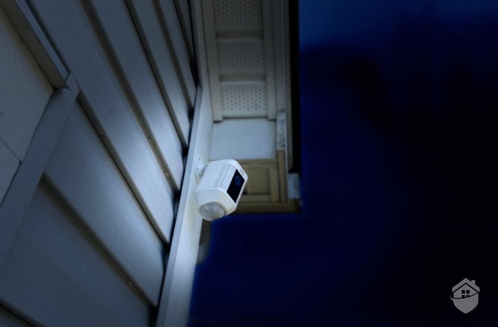 Ring Spotlight Camera at Night