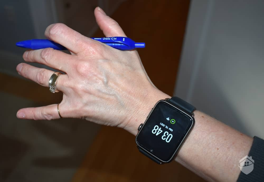 Wearing the HandsFree Health Watch