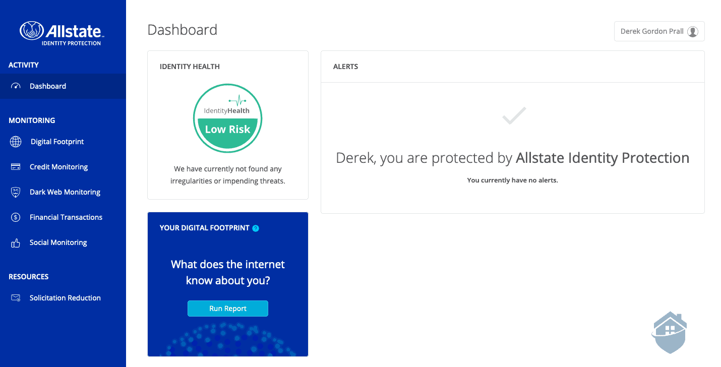 Allstate Identity Protection Dashboard