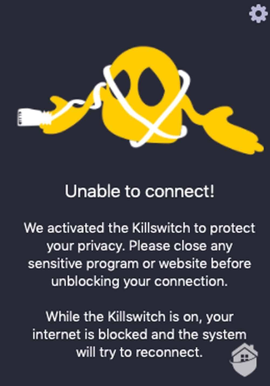 CyberGhost Killswitch Message